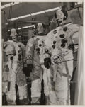 Autographs:Celebrities, Apollo 9 Large Crew Photo Directly from the Personal Collection of Mission Lunar Module Pilot Rusty Schweickart, Signed. ...