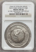 Expositions and Fairs, 1964 New York World's Fair Medallic Art Company Medal MS68 NGC. Sterling silver, 44 mm, serial number 1745....