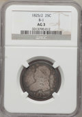 Bust Quarters: , 1825/2 25C AG3 NGC. B-1. NGC Census: (0/107). PCGS Population(0/21). Numismedia Wsl. Price for problem free NGC/PCGS coi...