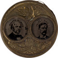 Political:Ferrotypes / Photo Badges (pre-1896), Seymour & Blair: Large Porthole Jugate....
