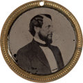 Political:Ferrotypes / Photo Badges (pre-1896), McClellan & Pendleton: Choice Ferrotype....