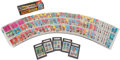 Football Cards:Sets, 1969 Topps Football Counter Display Box Plus Cards, 4 In 1s andAlbums. ...