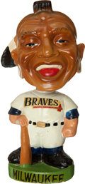Baseball Collectibles:Others, 1963-66 Milwaukee Braves Green Base Nodder....