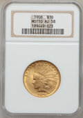Indian Eagles: , 1908 $10 Motto AU58 NGC. NGC Census: (641/3067). PCGS Population(603/2512). Mintage: 341,300. Numismedia Wsl. Price for pr...