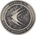 Transportation:Space Exploration, Apollo 15 Flown Silver Robbins Medallion Directly from the Personal Collection of Astronaut Rusty Schweickart, Serial Number 0...