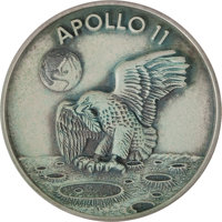 Apollo 11 Flown Silver Robbins Medallion Directly from the Personal Collection of Astronaut Rusty Schweickart, Serial Nu...
