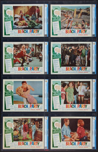 """Beach Party (American International, 1963). CGC Graded Lobby Card Set of 8 (11"""" X 14""""). Comedy. ... (Total: 8..."""