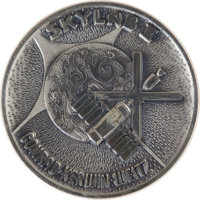 Skylab I (SL-2) Flown Silver Robbins Medallion Directly from the Personal Collection of Backup Mission Commander Rusty S...