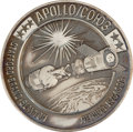 Transportation:Space Exploration, Apollo-Soyuz Test Project Flown Silver Robbins Medallion Directlyfrom the Personal Collection of Astronaut Rusty Schweickart,...