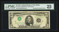 Error Notes:Inverted Third Printings, Fr. 1973-K $5 1974 Federal Reserve Note. PMG Very Fine 25.. ...