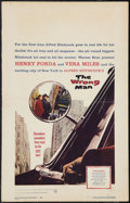 """Movie Posters:Hitchcock, The Wrong Man (Warner Brothers, 1957). Window Card (14"""" X 22"""").Hitchcock.. ..."""