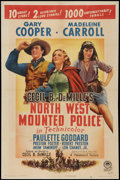 "Movie Posters:Adventure, North West Mounted Police (Paramount, 1940). One Sheet (27"" X 41"")Style A. Adventure.. ..."