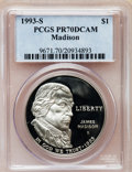 Modern Issues: , 1993-S $1 Bill of Rights Silver Dollar PR70 Deep Cameo PCGS. PCGSPopulation (22). NGC Census: (0). Mintage: 534,001. Numis...