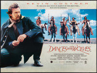 "Dances with Wolves (Orion, 1990). British Quad (30"" X 40""). Western"