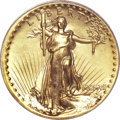 High Relief Double Eagles, 1907 $20 High Relief, Wire Rim MS67 PCGS....