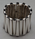 Jewelry, AN ANTONIO PINEDA SILVER AND OBSIDIAN BRACELET . Antonio Pineda, Taxco, Mexico, circa 1950 . Marks: (crown-Antonio-Taxco), (...