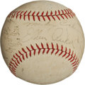 Baseball Collectibles:Balls, 1938 Detroit Tigers Team Signed Baseball (17 Signatures)....