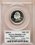Proof Statehood Quarters: , 2000-S 25C Maryland Silver PR69 Deep Cameo PCGS. PCGS Population(6911/233). NGC Census: (7004/1754). Numismedia Wsl. Pric...