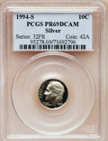 Proof Roosevelt Dimes: , 1994-S 10C Silver PR69 Deep Cameo PCGS. PCGS Population (2150/80).NGC Census: (0/0). Numismedia Wsl. Price for problem fr...