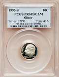 Proof Roosevelt Dimes: , 1995-S 10C Silver PR69 Deep Cameo PCGS. PCGS Population (1912/88).NGC Census: (0/0). Numismedia Wsl. Price for problem fr...