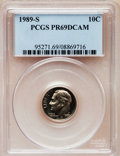 Proof Roosevelt Dimes: , 1989-S 10C PR69 Deep Cameo PCGS. PCGS Population (2141/129). NGCCensus: (265/61). Numismedia Wsl. Price for problem free ...