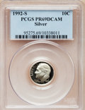 Proof Roosevelt Dimes: , 1992-S 10C Silver PR69 Deep Cameo PCGS. PCGS Population (2579/173).Numismedia Wsl. Price for problem f...