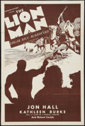 "Movie Posters:Adventure, The Lion Man (United Screen Associates, 1936). One Sheet (27"" X41""). Adventure.. ..."