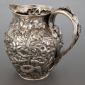 Silver Holloware, American:Pitchers, A S. KIRK & SONS SILVER PITCHER . S. Kirk & Son Inc.,Baltimore, Maryland, circa 1896. Marks: S. KIRK & SONS, 11OZ, 345...