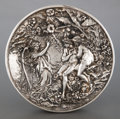 Silver Holloware, American:Other , A SILVER REPOUSSÉ ROUND PLAQUE . Circa 1880. Marks:(indistinguishable marks with visible 925). 9 inches diameter (22.9cm)...
