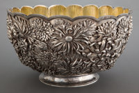 A CHINESE EXPORT SILVER AND SILVER GILT PUNCH BOWL Maker unknown, China, circa 1880 Spurious marks: TIFFANY
