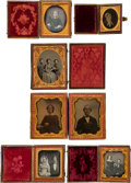 Photography:Daguerreotypes, Early Photography: Six Cased Images.... (Total: 6 Items)