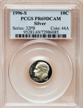 Proof Roosevelt Dimes: , 1996-S 10C Silver PR69 Deep Cameo PCGS. PCGS Population (2248/77).Numismedia Wsl. Price for problem fr...
