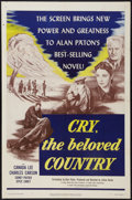 """Movie Posters:Drama, Cry, The Beloved Country (United Artists, 1952). One Sheet (27"""" X41""""). Drama.. ..."""