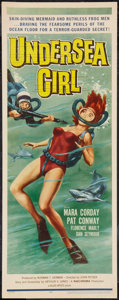"Movie Posters:Crime, Undersea Girl (Allied Artists, 1957). Insert (14"" X 36""). Crime....."