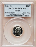 Proof Roosevelt Dimes: , 2001-S 10C Silver PR69 Deep Cameo PCGS. PCGS Population (3030/343).Numismedia Wsl. Price for problem f...