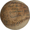 Autographs:Baseballs, Rube Walberg 35th Career Win Game Used With Inscription SignedBall....