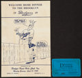 Baseball Collectibles:Programs, 1949 Brooklyn Dodgers Welcome Home Banquet Program and Ticket....