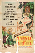 Memorabilia:Poster, Hansel and Gretel Movie Poster (RKO, 1954)....
