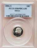 Proof Roosevelt Dimes, 2006-S 10C Silver PR69 Deep Cameo PCGS. PCGS Population (2160/260).NGC Census: (0/0). The image displayed is a stock pho...
