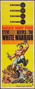 "Movie Posters:Action, The White Warrior (Warner Brothers, 1961). Insert (14"" X 36""). Action.. ..."