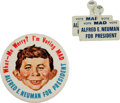 Memorabilia:MAD, Alfred E. Neuman for President Mad Pin and Lapel Tab Group (EC,1964).... (Total: 3 Items)