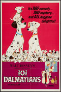 "Movie Posters:Animated, 101 Dalmatians (Buena Vista, R-1972). One Sheet (27"" X 41"").Animated.. ..."