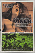 "Movie Posters:Sexploitation, Vixen! (Eve Productions, 1968). One Sheet (27"" X 41""). Sexploitation.. ..."