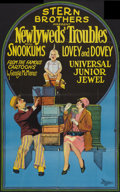 "Movie Posters:Comedy, Newlyweds' Troubles and Other Lot (Universal, 1927). One Sheet (23"" X 37"") and Promotional Item (9.25"" X 12.25""). Comedy.. ... (Total: 2 Items)"