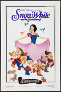 "Movie Posters:Animation, Snow White and the Seven Dwarfs (Buena Vista, R-1987). One Sheet(27"" X 41"") Gold Foil Style. Animation.. ..."