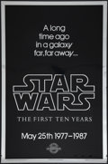 "Movie Posters:Science Fiction, Star Wars (Kilian Enterprises, 1987). 10th Anniversary Silver MylarOne Sheet (27"" X 41""). ..."