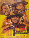 "Movie Posters:Western, The Good, the Bad and the Ugly (United Artists, R-1975). FrenchGrande (47"" X 63""). Western.. ..."