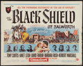 "Movie Posters:Adventure, The Black Shield of Falworth (Universal International, 1954). HalfSheet (22"" X 28"") and Lobby Card (11""X 14""). Adventure.. ...(Total: 2 Items)"