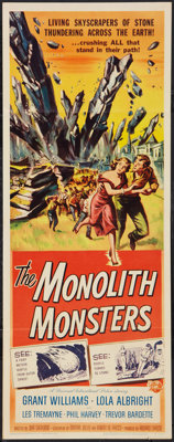 """The Monolith Monsters (Universal International, 1957). Insert (14"""" X 36""""). Science Fiction"""