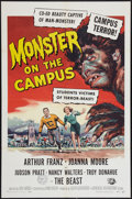 """Movie Posters:Horror, Monster on the Campus (Universal International, 1958). One Sheet (27"""" X 41"""") and Lobby Card (11"""" X 14""""). Horror.. ... (Total: 2 Items)"""
